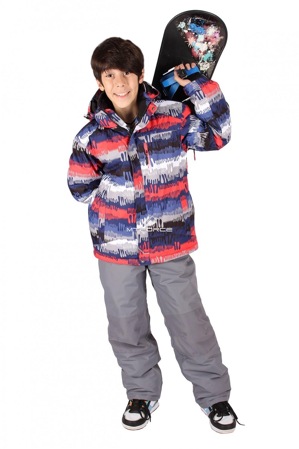 Купить                                  оптом Костюм горнолыжный  для мальчика красного цвета 546Kr