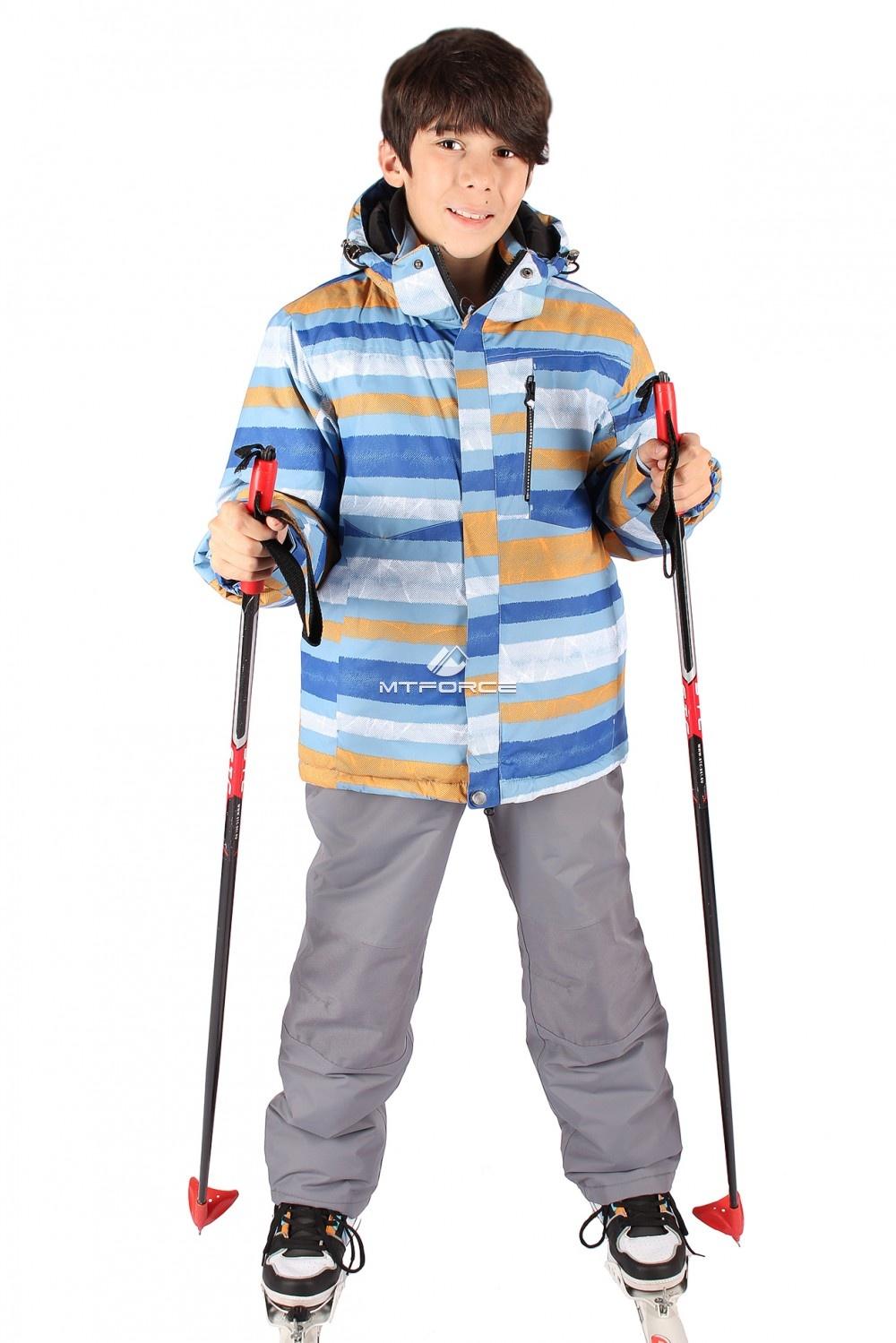 Купить оптом Костюм горнолыжный  для мальчика серого цвета 547Sr