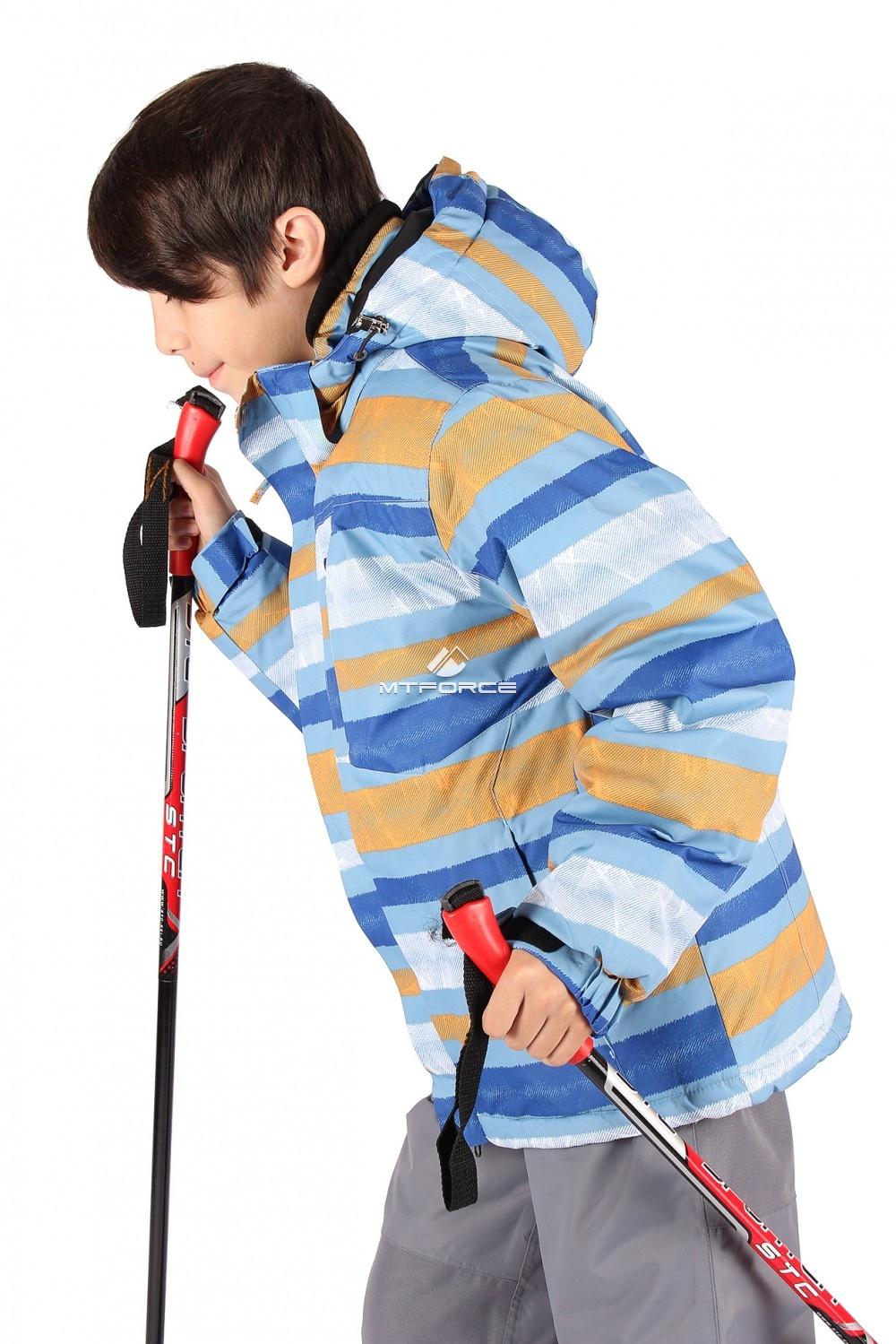 Купить                                  оптом Куртка горнолыжная подростковая для мальчика серого цвета 547-1Sr