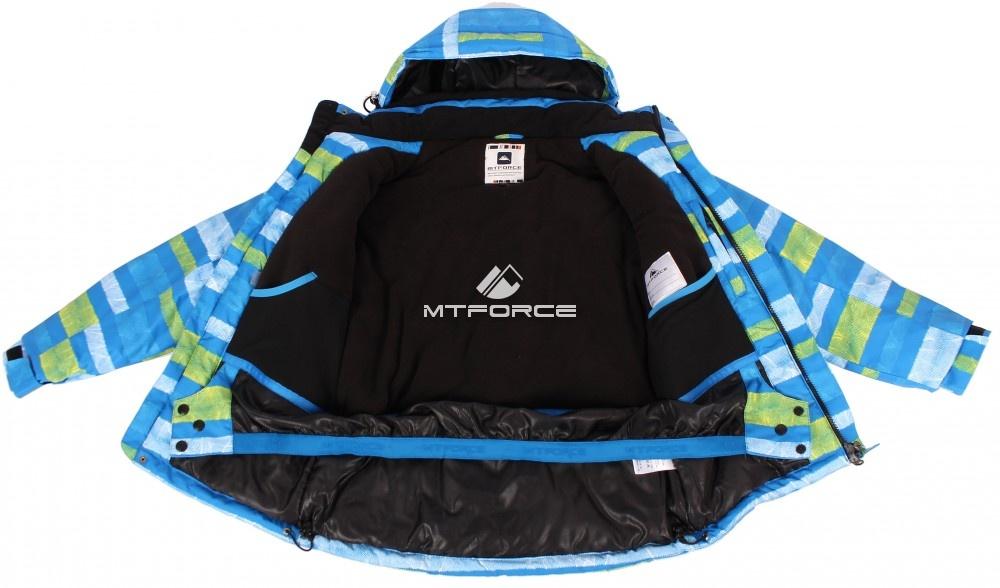 Купить оптом Куртка горнолыжная подростковая для мальчика голубого цвета 547-1Gl в  Красноярске