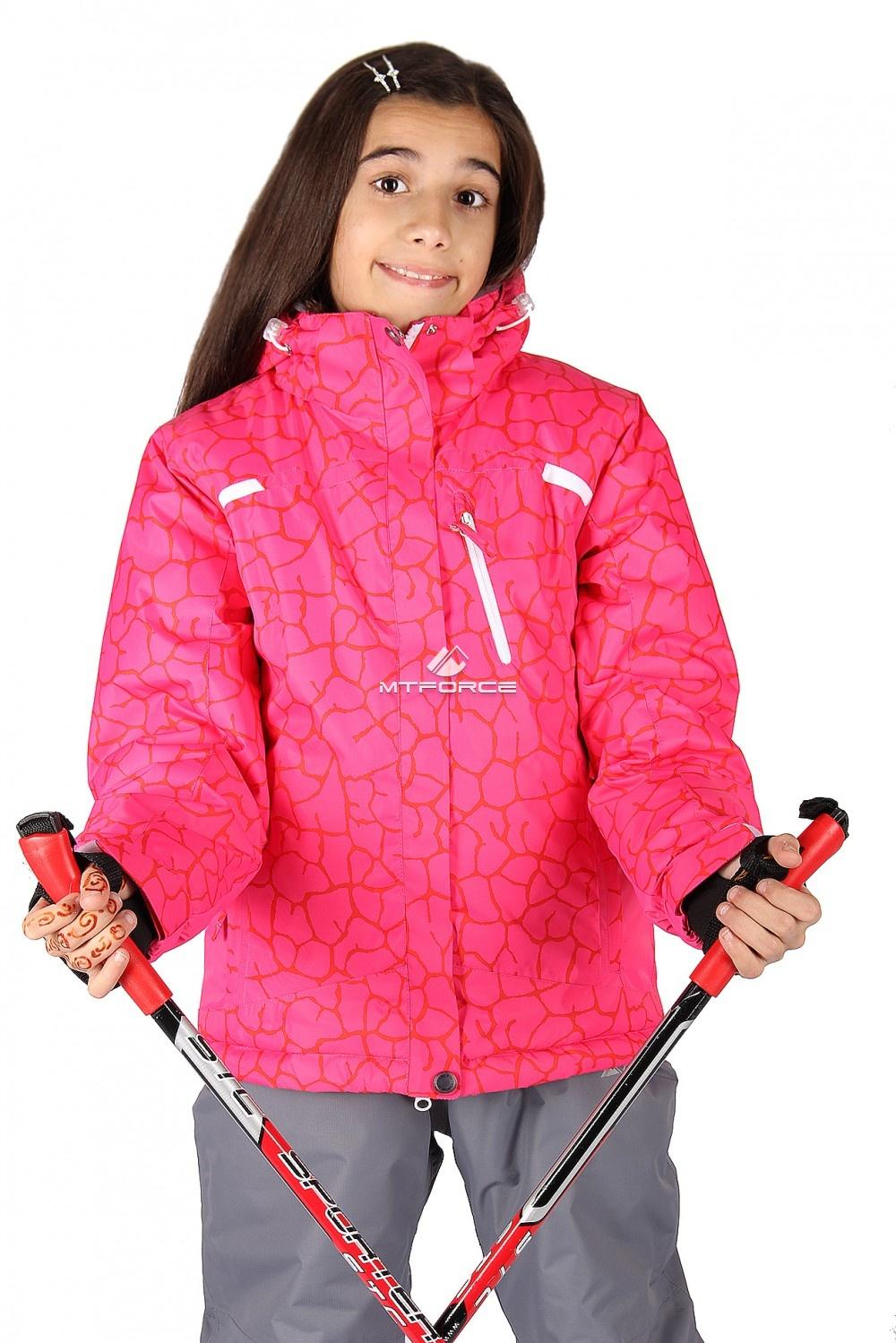 Купить  оптом Куртка горнолыжная подростковая для девочки красного цвета 548-1Kr