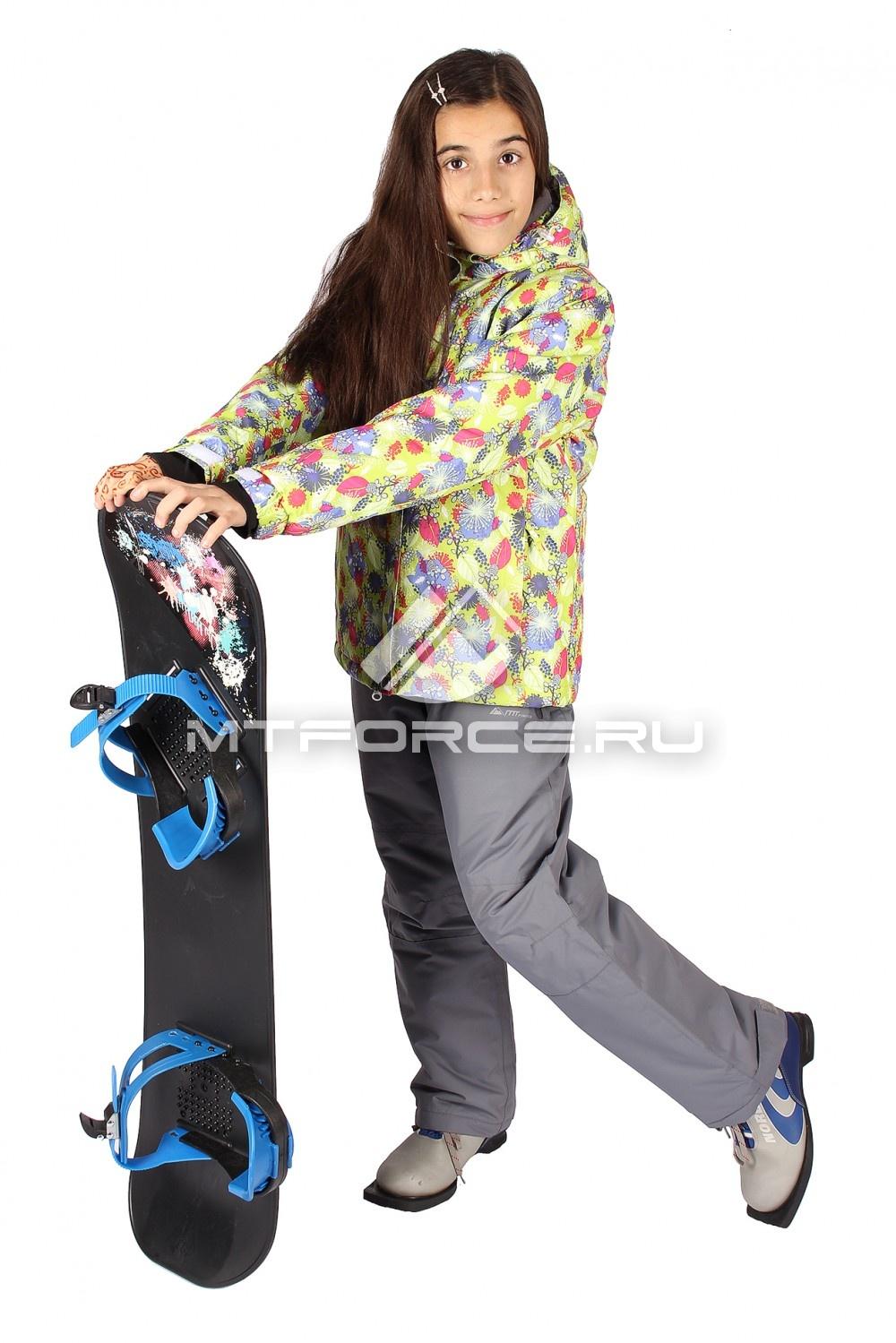 Купить                                  оптом Костюм горнолыжный  для девочки желтого цвета 549J