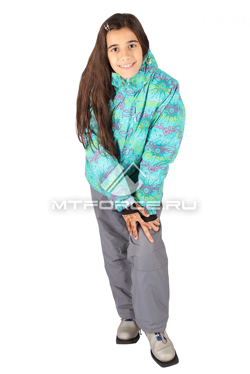 Купить                                  оптом Костюм горнолыжный  для девочки зеленого цвета 549Z