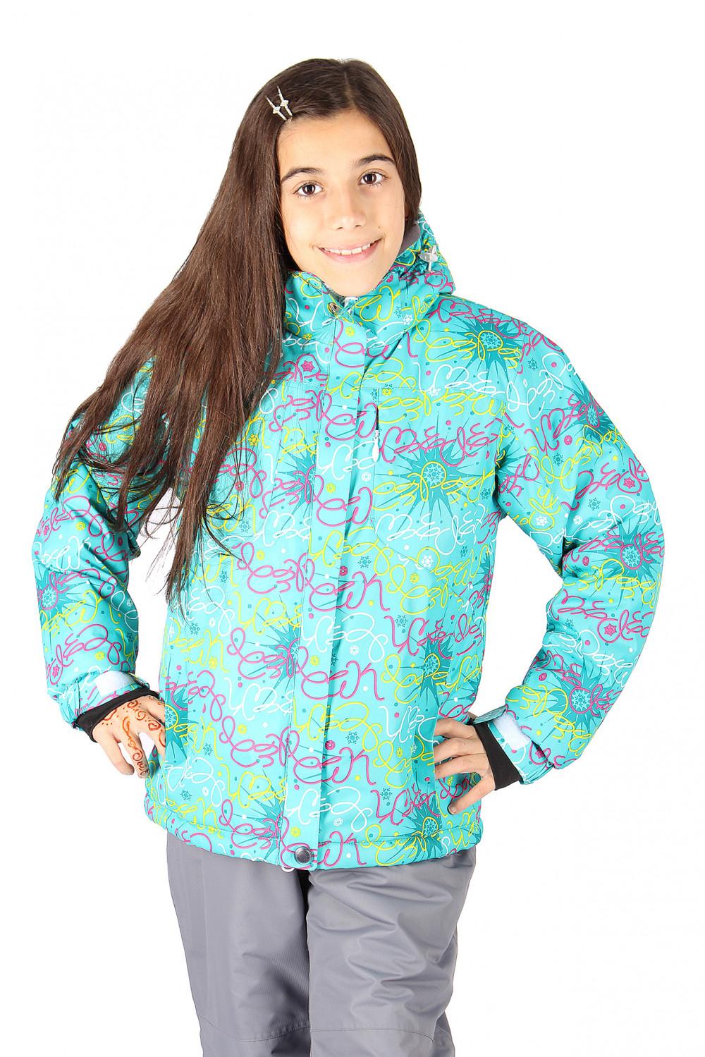 Купить                                  оптом Куртка горнолыжная подростковая для девочки зеленого цвета 549-1Z