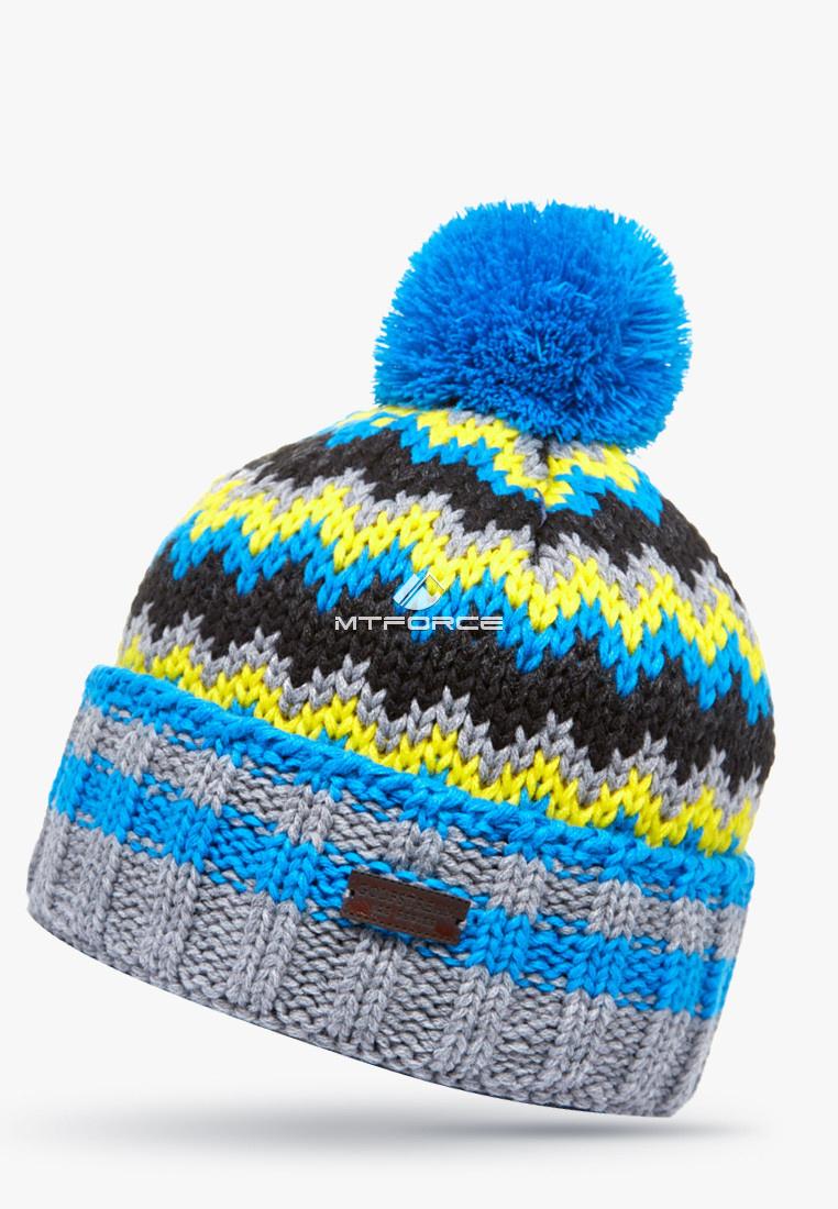Купить оптом Шапка зимняя синего цвета 5543S