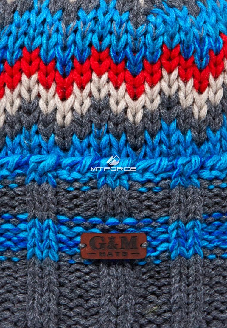 Купить оптом Шапка зимняя голубого цвета 5543Gl