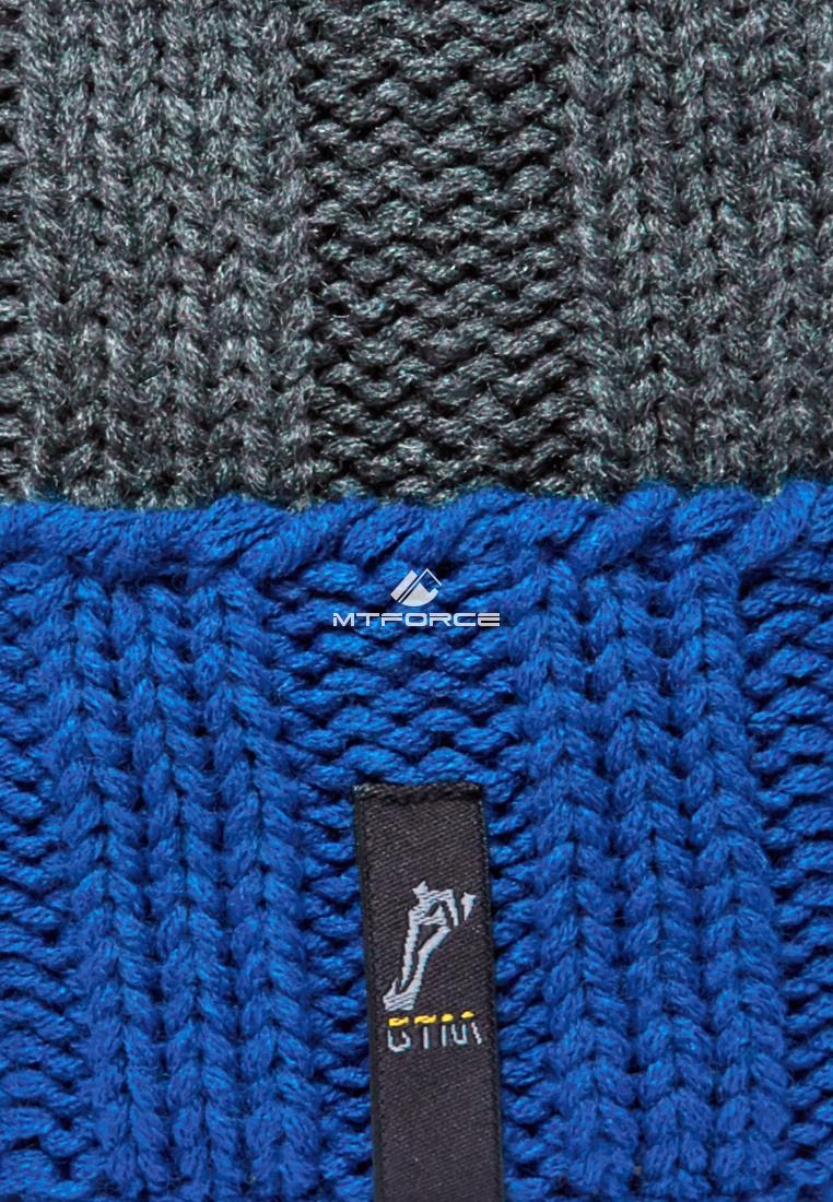 Купить оптом Шапка зимняя мужская синего цвета 5548S в Омске