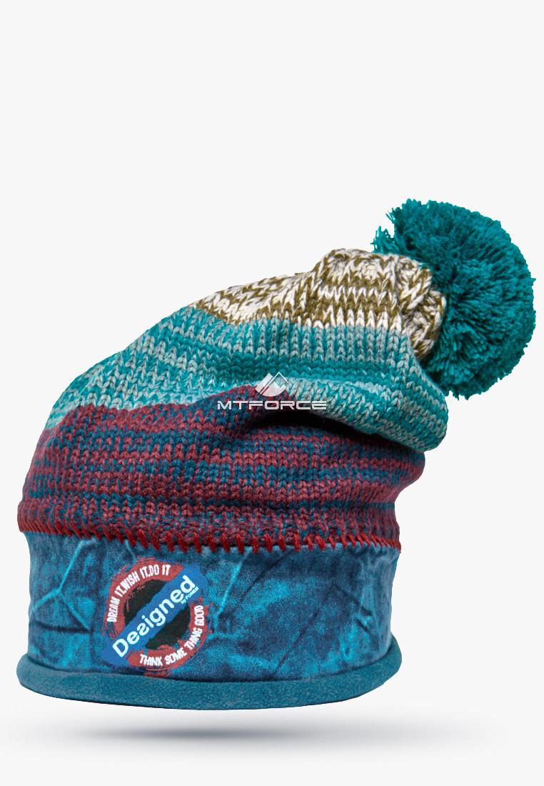 Купить оптом Шапка зимняя бирюзового цвета 5590Br