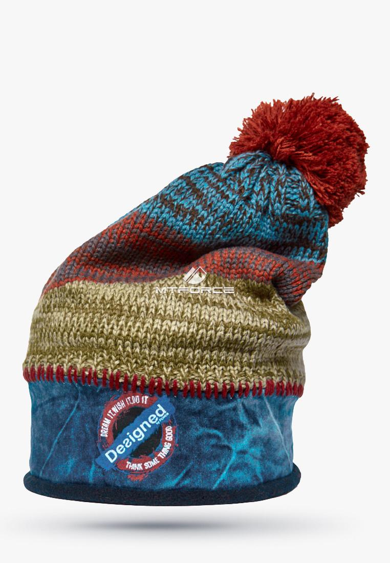 Купить оптом Шапка зимняя голубого цвета 5590Gl