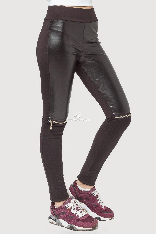 Купить оптом Брюки легинсы женские черного цвета 056-1Ch в Новосибирске