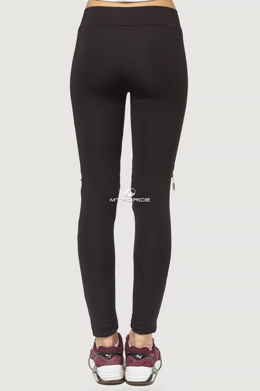 Купить оптом Брюки легинсы женские черного цвета 056Ch в Челябинске