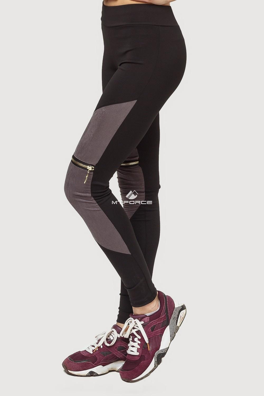 Купить оптом Брюки легинсы женские серого цвета 056Sr