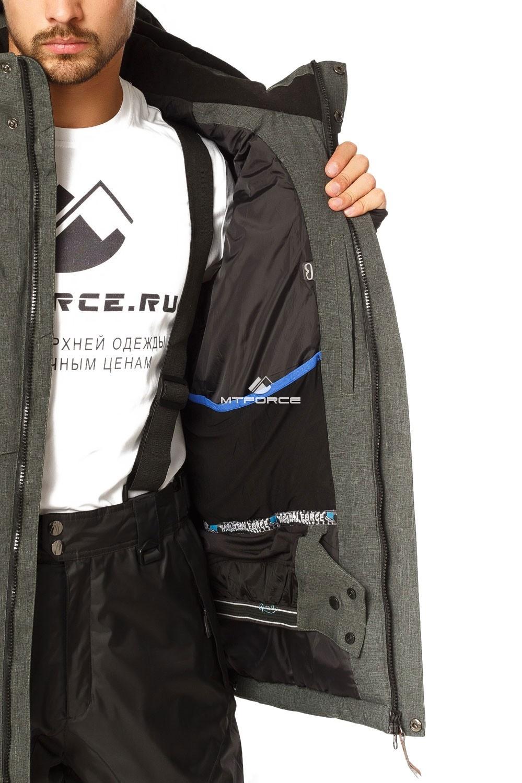 Купить оптом Костюм горнолыжный мужской цвета хаки 01768Kh в  Красноярске