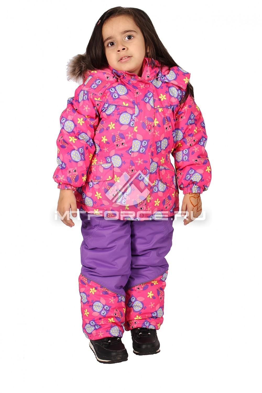 Купить                                  оптом Костюм горнолыжный  детский розового цвета 604R
