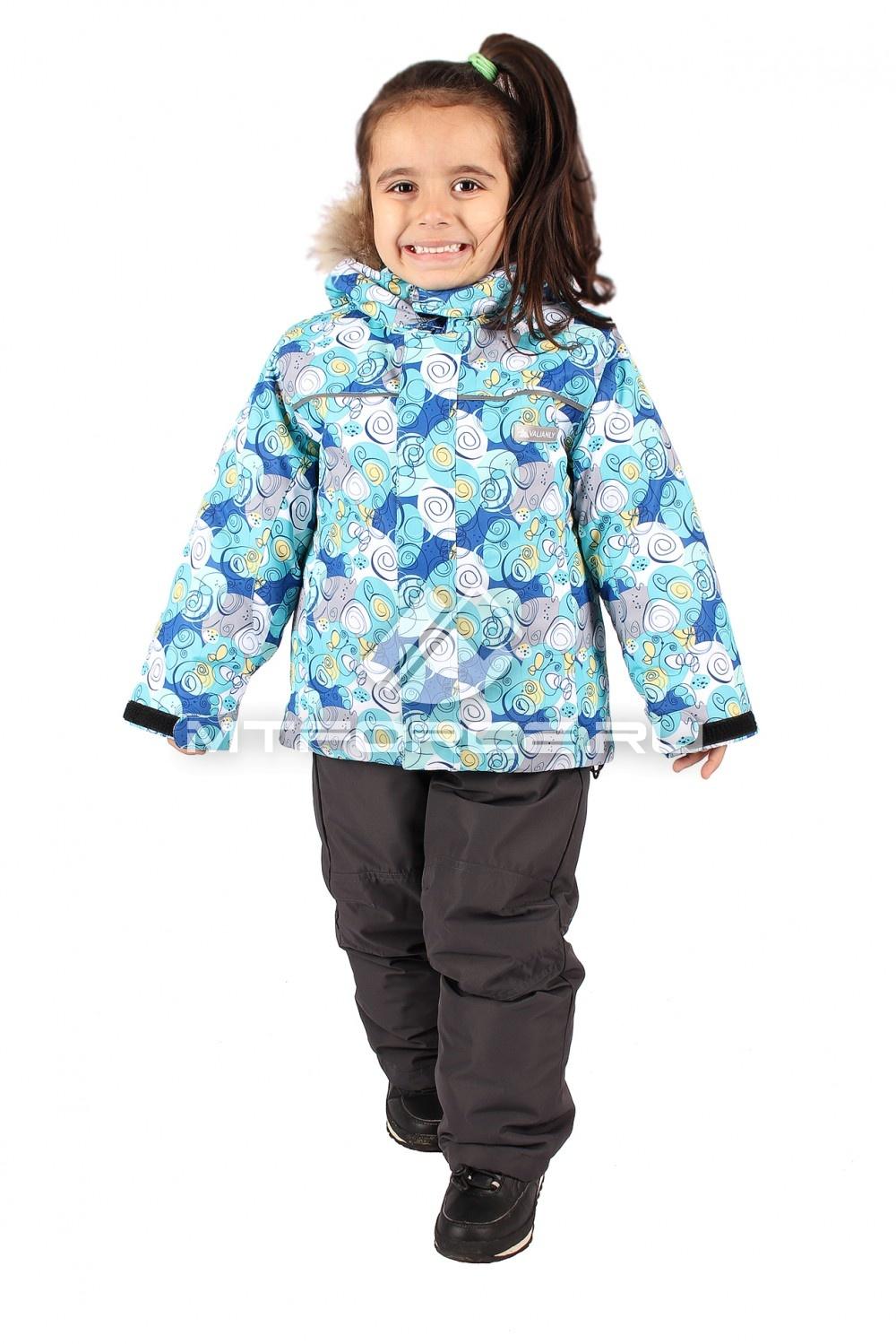 Купить оптом Костюм горнолыжный  детский синего цвета 605S
