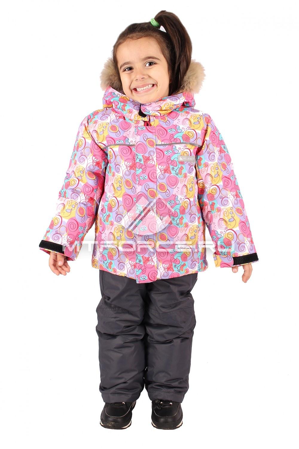 Купить                                  оптом Костюм горнолыжный  детский розового цвета 605R
