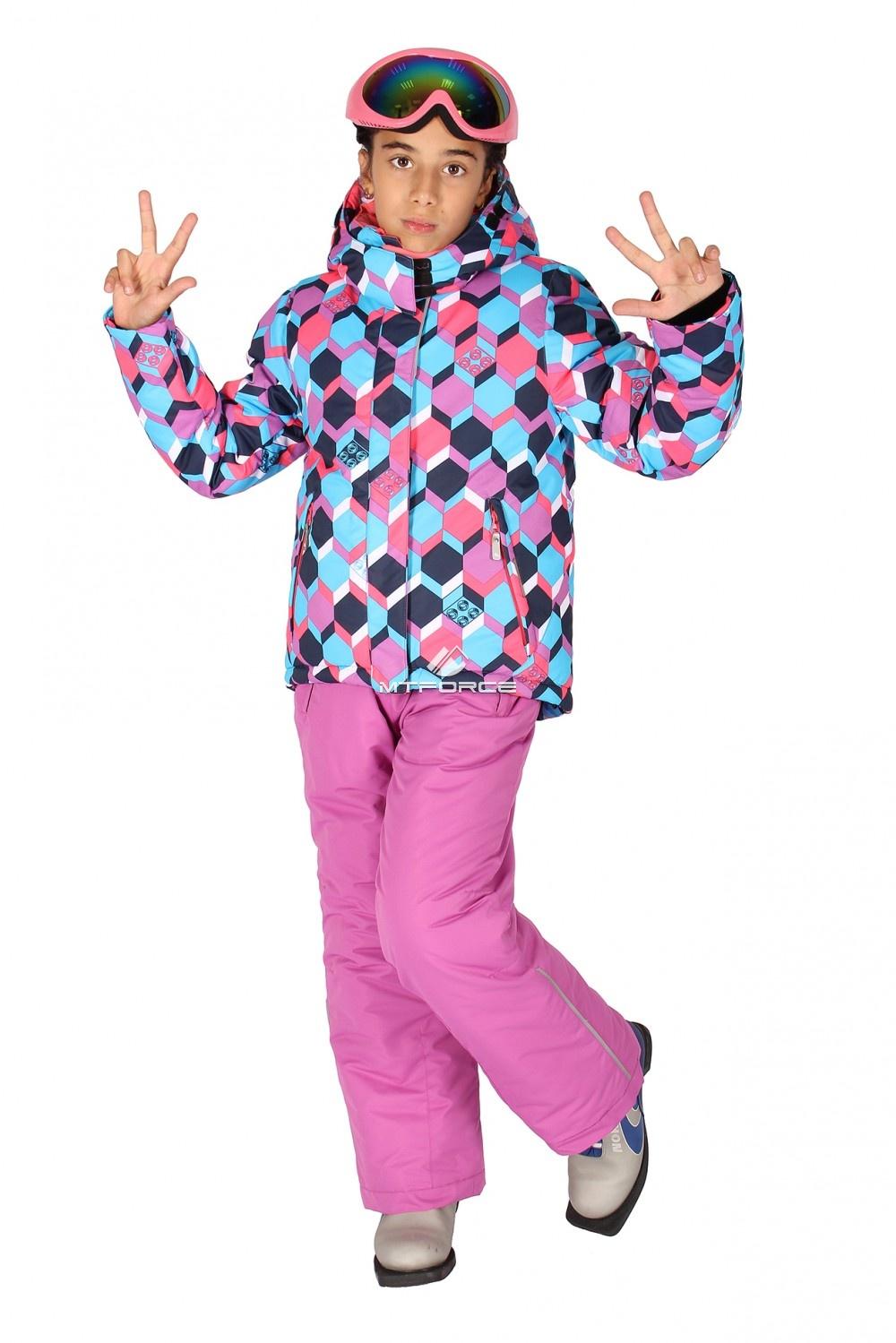 Купить                                  оптом Костюм горнолыжный  для девочки фиолетового цвета 6101F