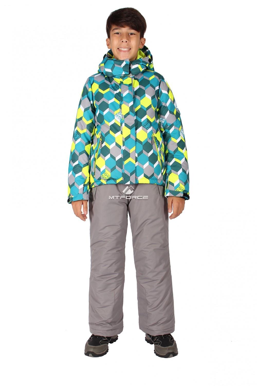 Купить                                  оптом Костюм горнолыжный  для мальчика зеленного цвета 6101Z