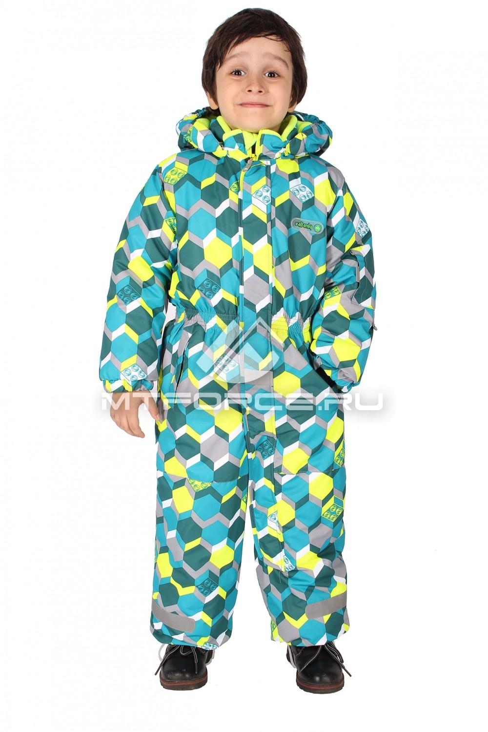 Купить                                  оптом Комбинезон горнолыжный детский зеленого цвета 6102Z