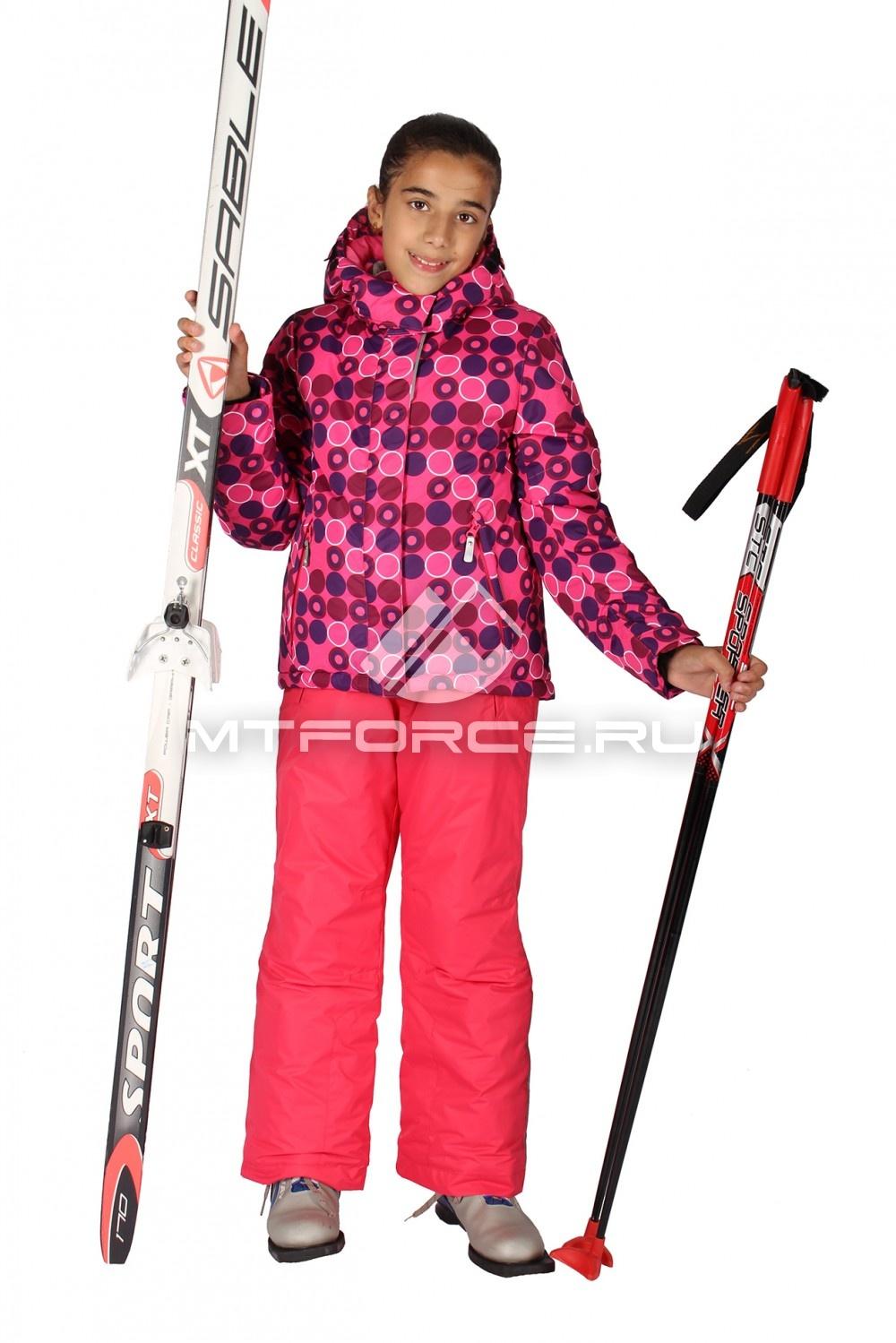 Купить                                  оптом Костюм горнолыжный  для девочки розового цвета 6101R