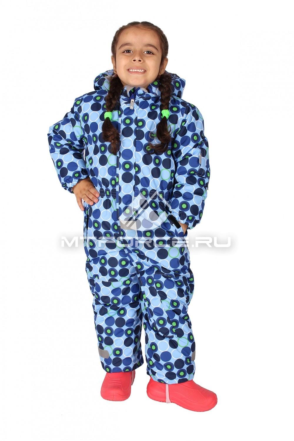 Купить                                  оптом Комбинезон горнолыжный детский синего цвета 6102S