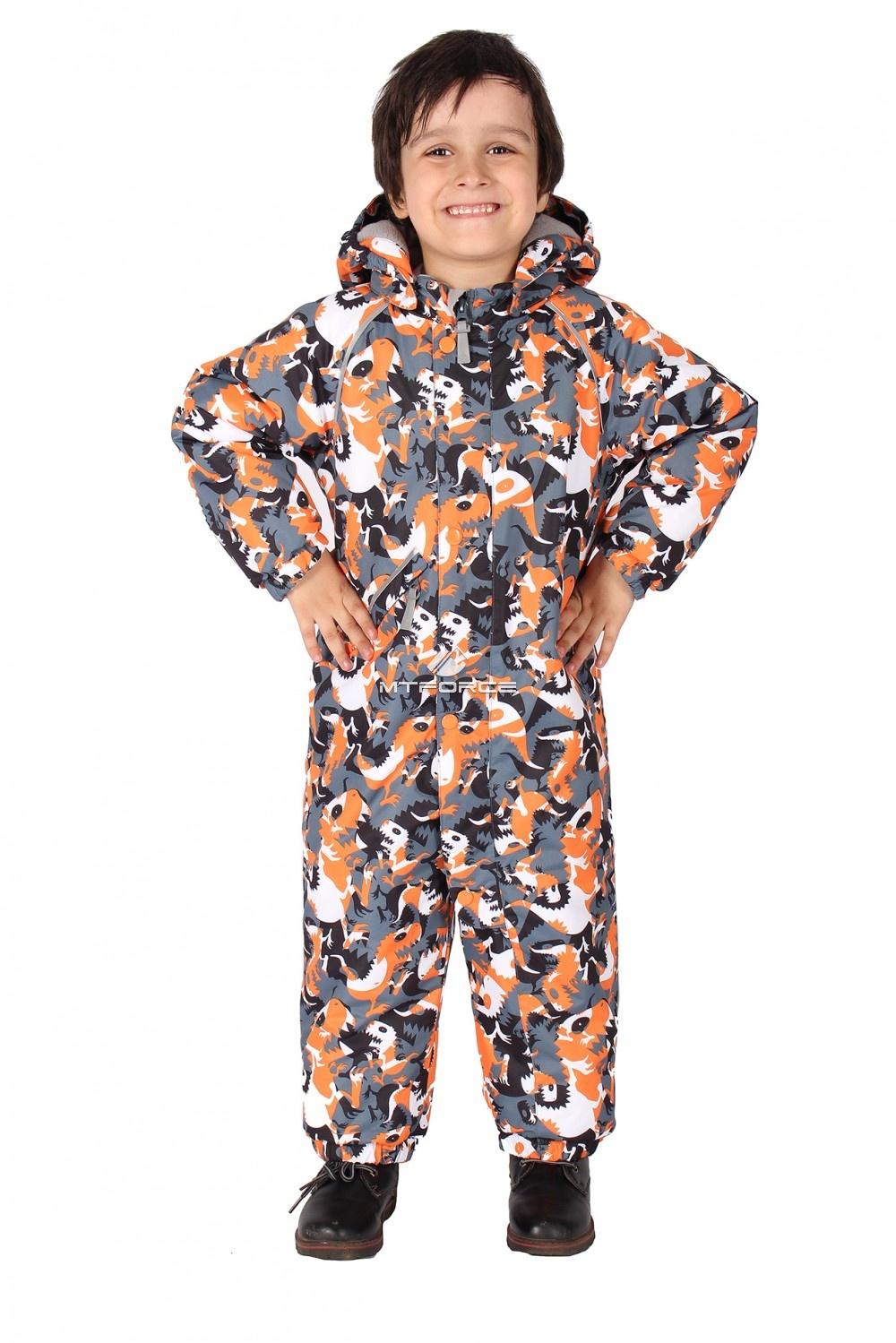 Купить                                      оптом Комбинезон горнолыжный детский оранжевого цвета 6104O