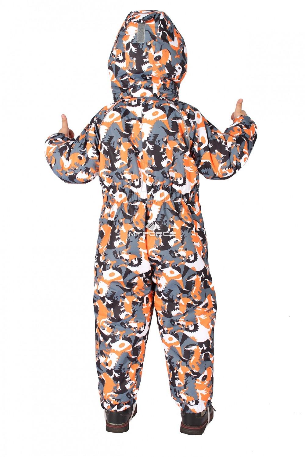 Купить оптом Комбинезон горнолыжный детский оранжевого цвета 6104O в Нижнем Новгороде