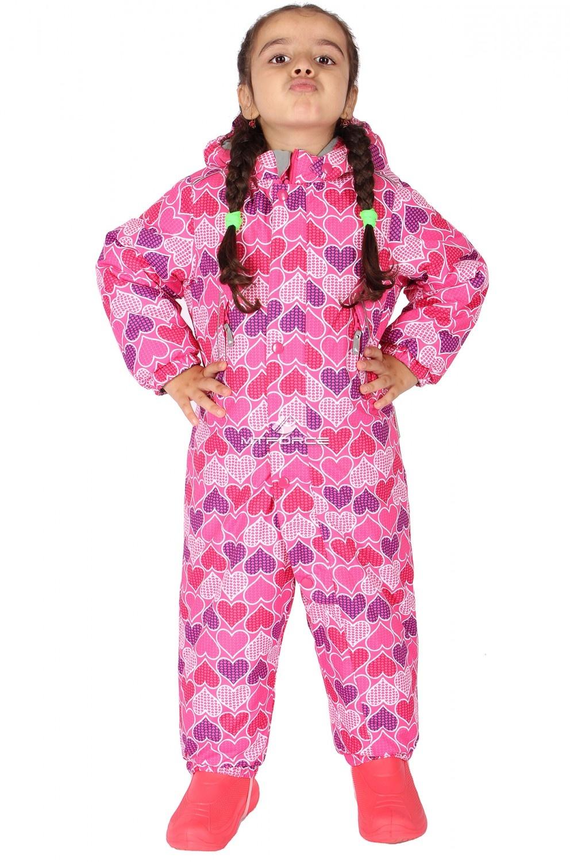 Купить  оптом Комбинезон горнолыжный детский розового цвета 6106R