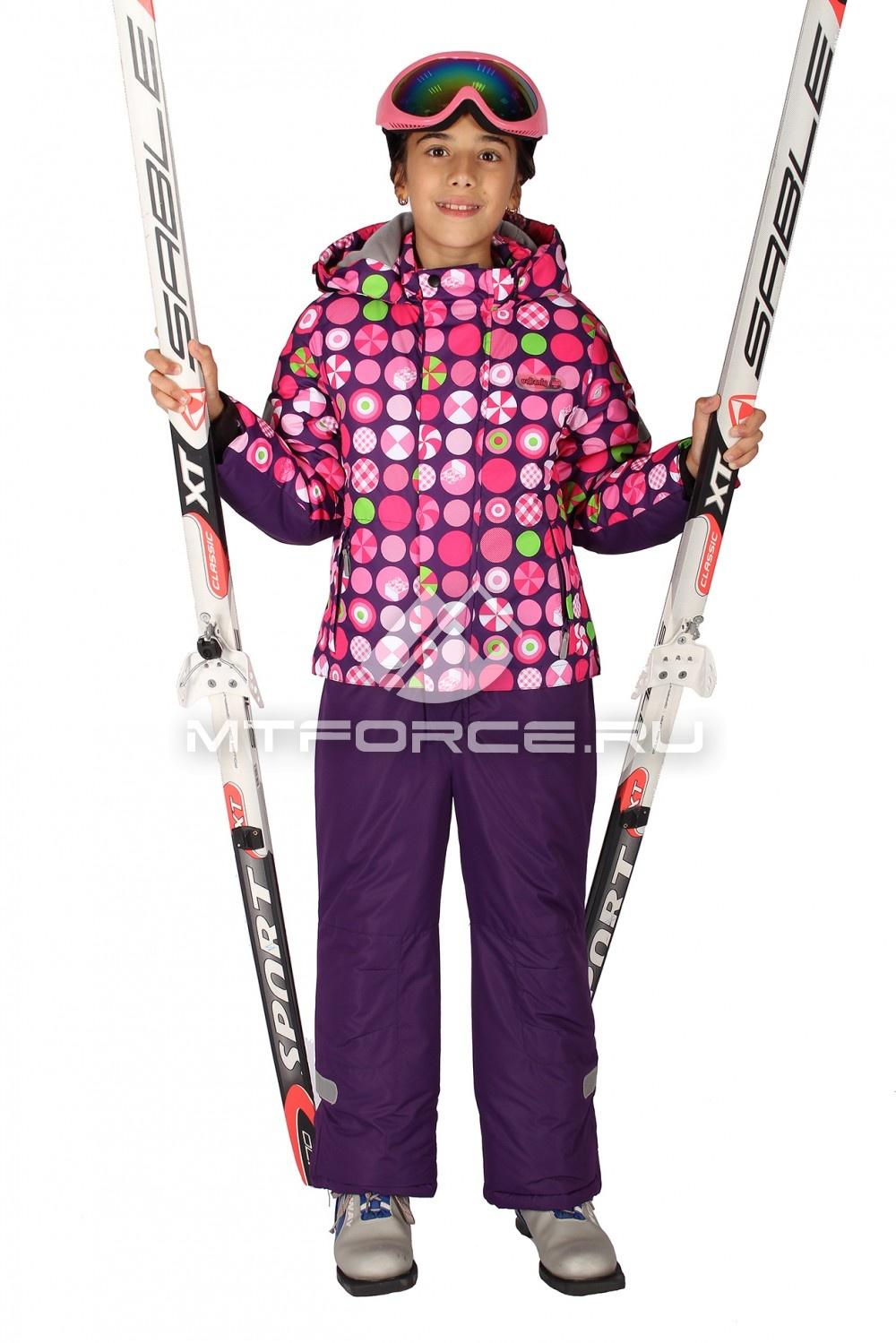 Купить                                  оптом Комбинезон горнолыжный  для девочек розового цвета 6107R