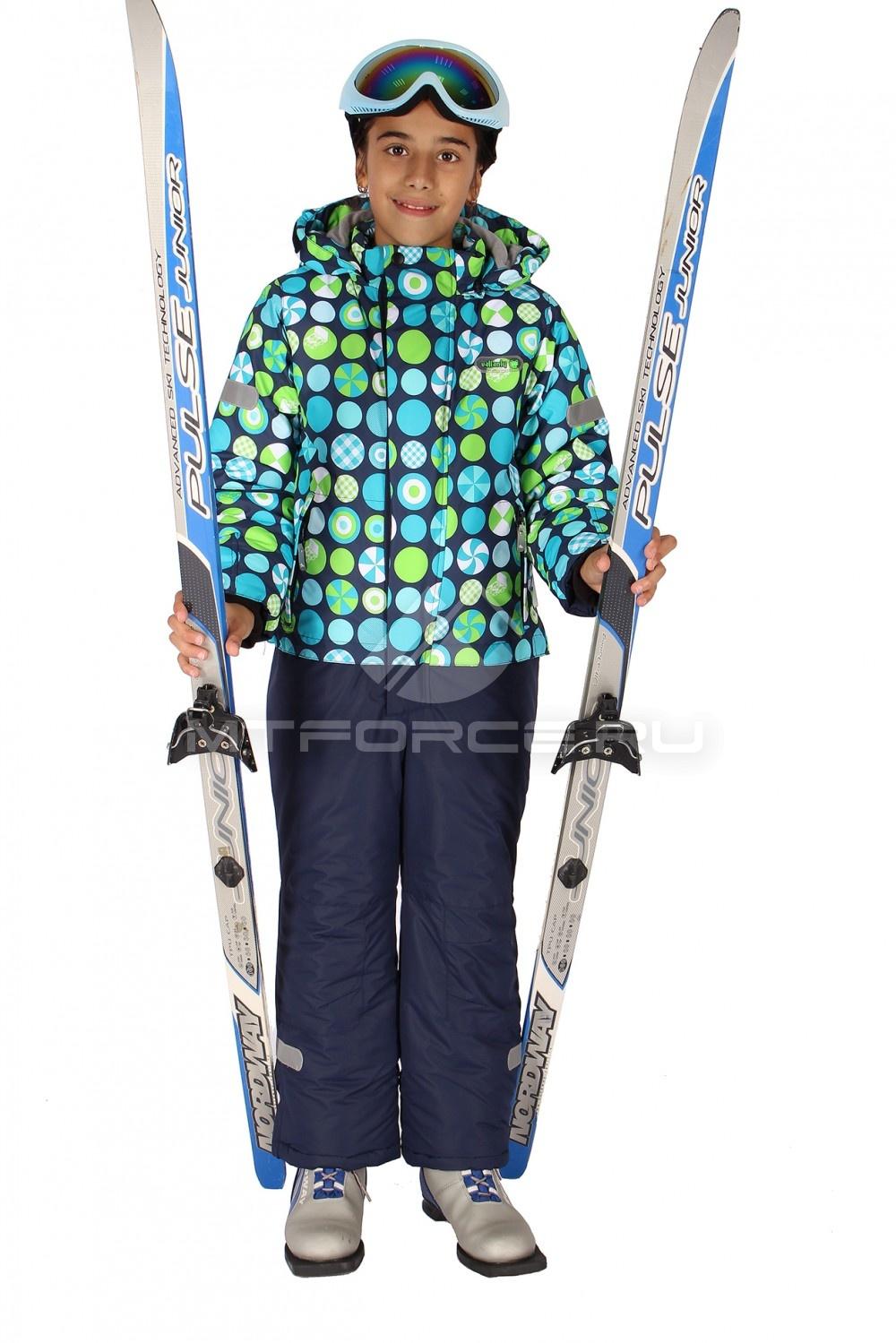 Купить                                  оптом Комбинезон горнолыжный  для девочек синего цвета 6107S