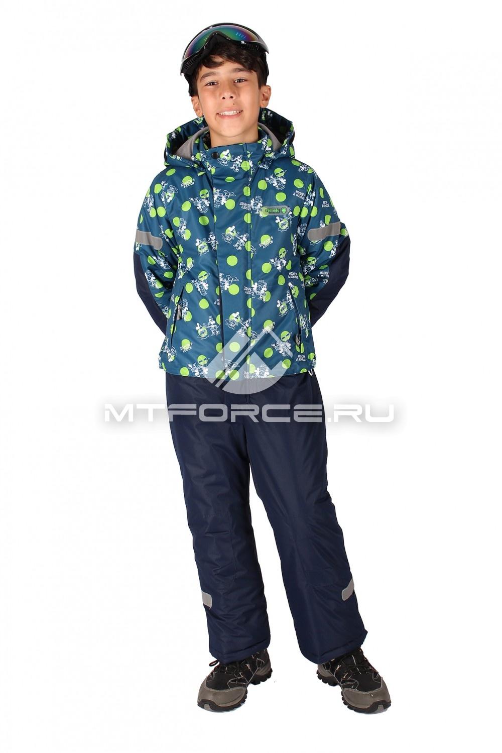Купить                                  оптом Комбинезон горнолыжный  для мальчика темно-синего  цвета 6108TS