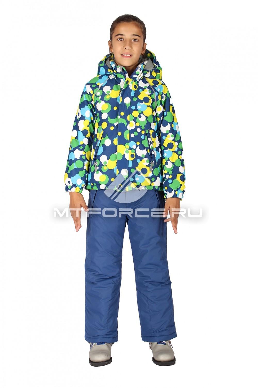 Купить                                  оптом Костюм горнолыжный  для девочки синего цвета 6109S
