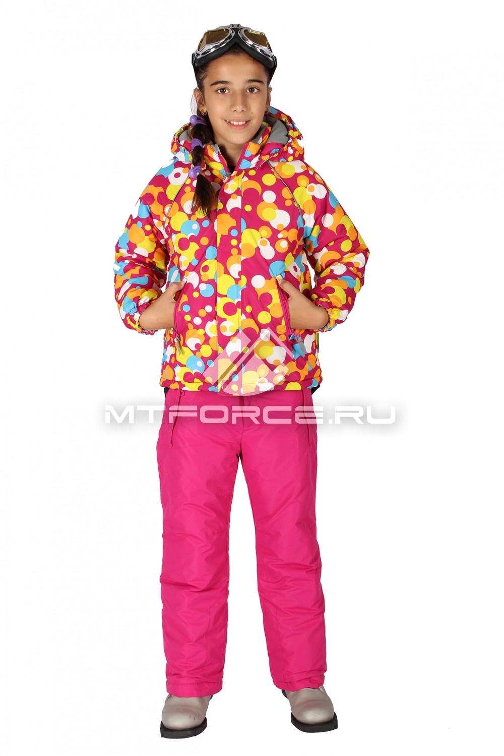 Купить                                  оптом Костюм горнолыжный  для девочки розового цвета 6109R