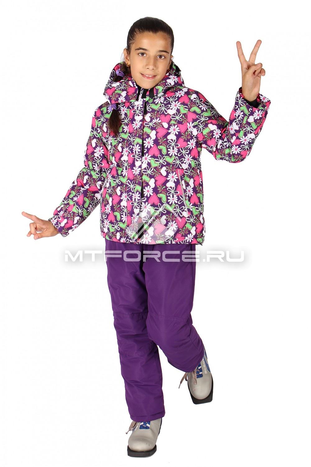 Купить оптом Костюм горнолыжный  для девочки розового цвета 618R