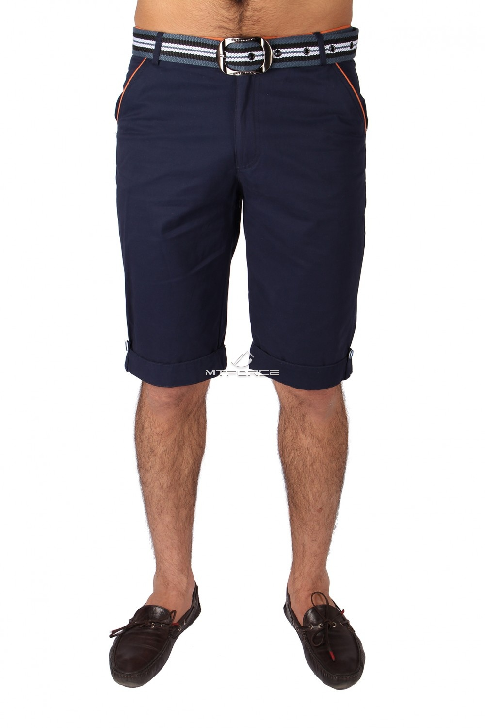 Купить                                  оптом Шорты городского стиля темно-синего цвета 6191TS