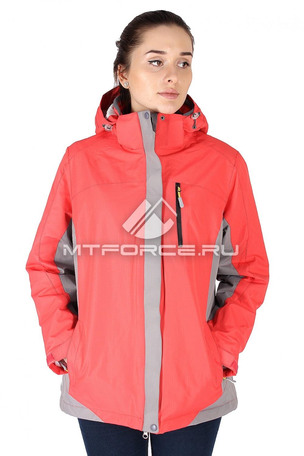 Купить                                  оптом Куртка спортивная женская батал персикового цвета 626P