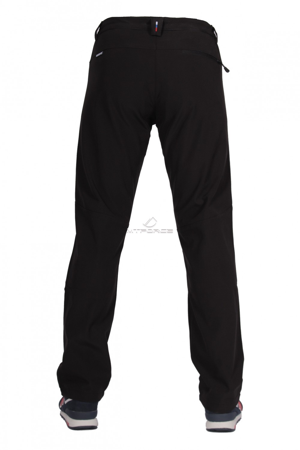 Купить оптом Брюки виндстопер мужские черного цвета  6616Ch в Омске