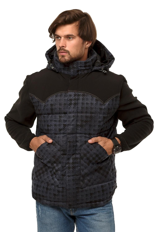 Купить оптом Жилетка мужская утепленная темно-серого цвета 666TC