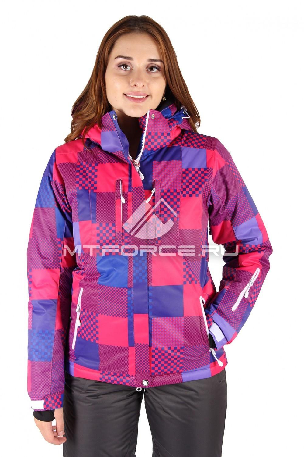 Купить                                  оптом Куртка горнолыжная женская красного цвета 68Kr