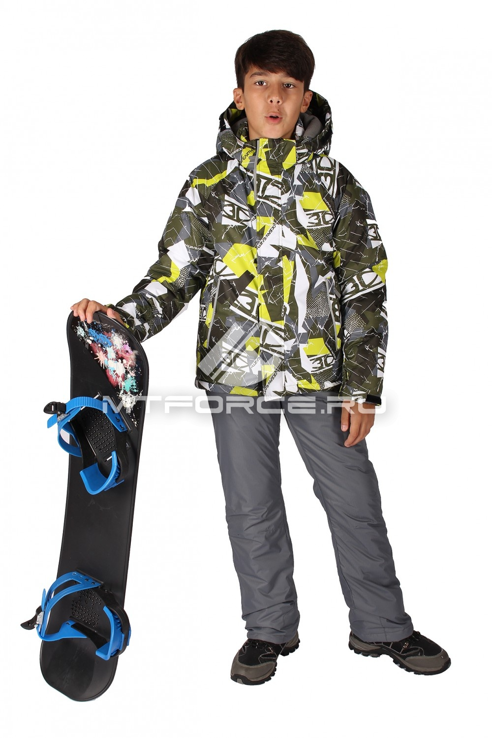 Купить                                  оптом Костюм горнолыжный  для мальчика цвета хаки 708Kh