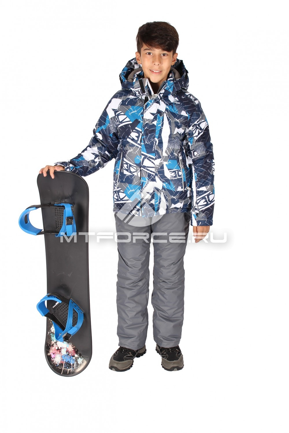 Купить                                  оптом Костюм горнолыжный  для мальчика синего цвета 708S