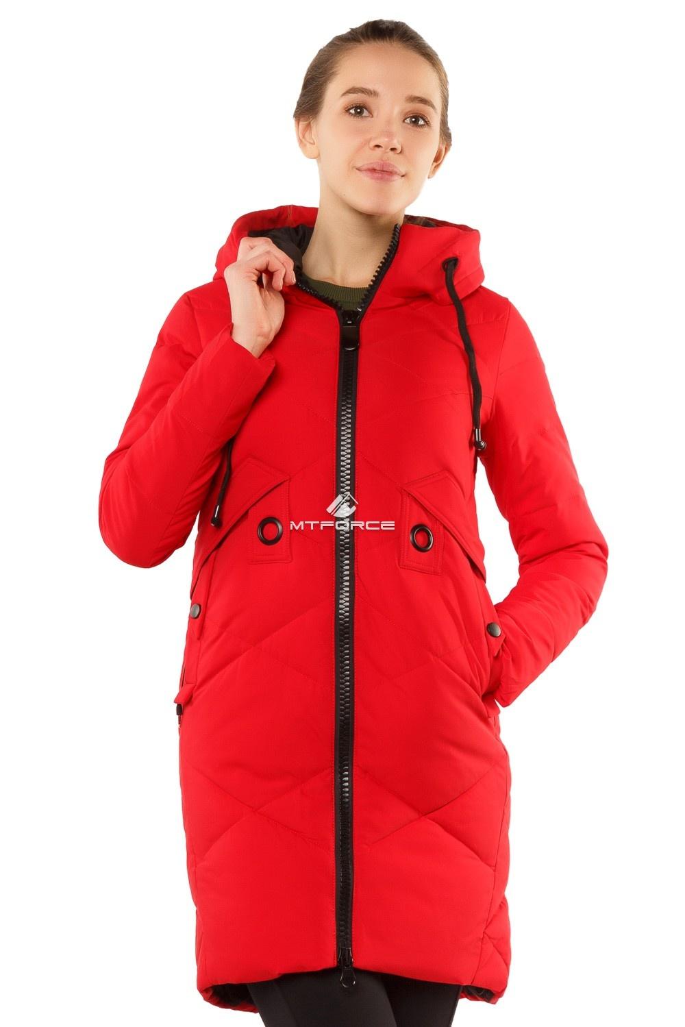 Купить  оптом Куртка женская зимняя молодежная красного цвета 7167Kr