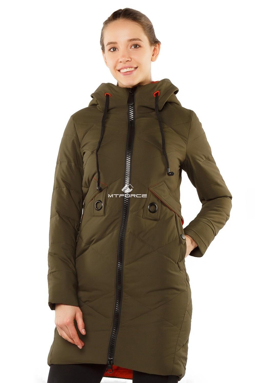 Купить  оптом Куртка женская зимняя молодежная цвета хаки 7167Kh