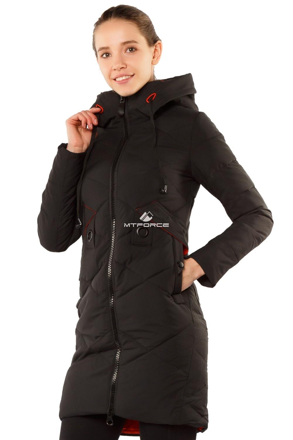 Купить  оптом Куртка женская зимняя молодежная черного цвета 7167Ch