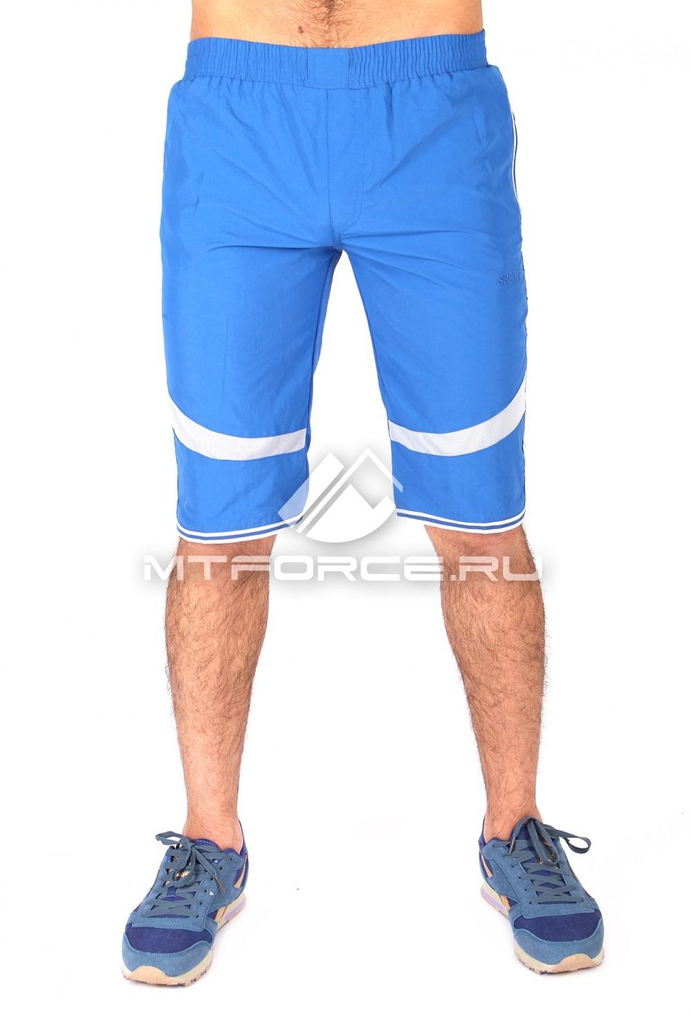 Купить                                  оптом Спортивные шорты синего цвета 717S