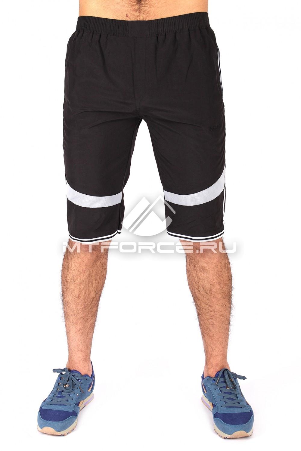 Купить  оптом Спортивные шорты черного цвета 717Ch в Санкт-Петербурге