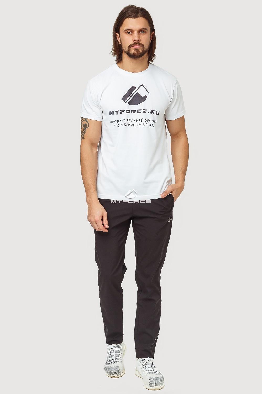 Купить оптом Брюки спортивные мужские черного цвета 7190Ch в  Красноярске