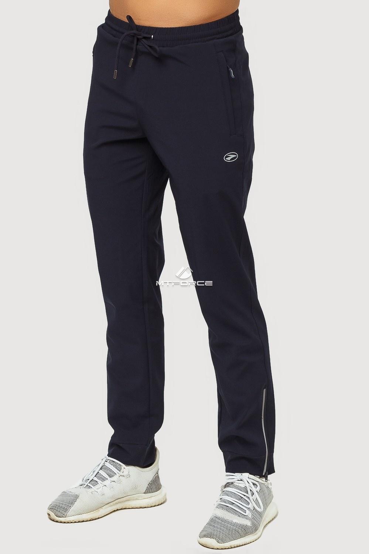 Купить оптом Брюки спортивные мужские темно-синего цвета 7190TS в Воронеже