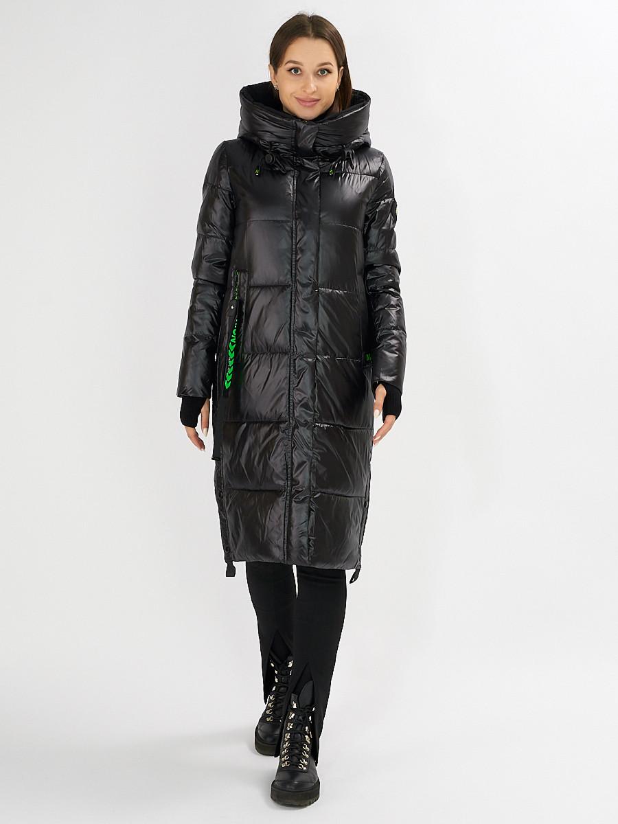 Купить оптом Куртка зимняя черного цвета 72101Ch в Екатеринбурге