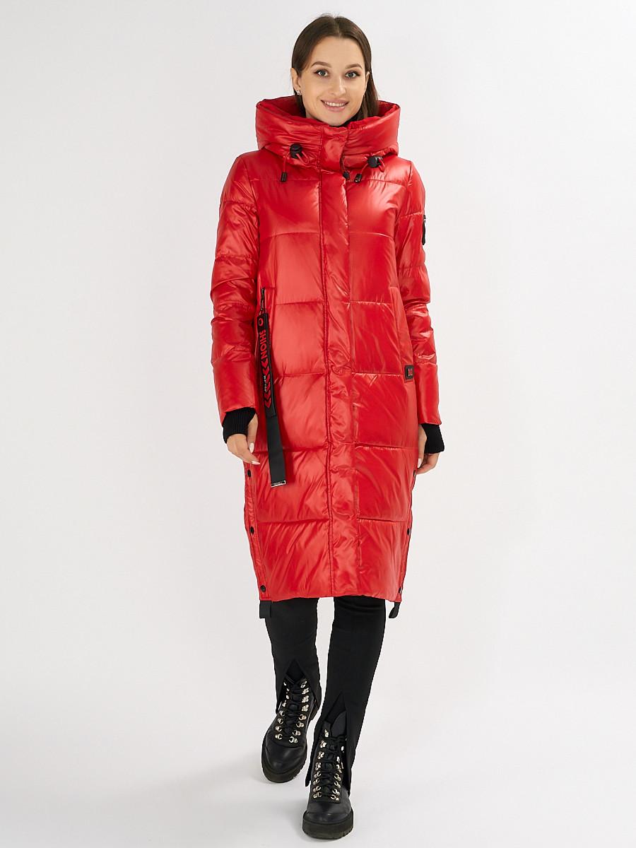 Купить оптом Куртка зимняя красного цвета 72101Kr в Екатеринбурге